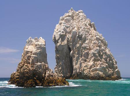 cabo: The rocks of Lands End near Cabo San Lucas  Mexico Stock Photo