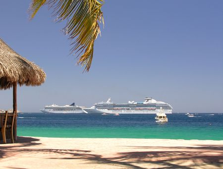 cabo: Beach club in Cabo San Lucas  Mexico