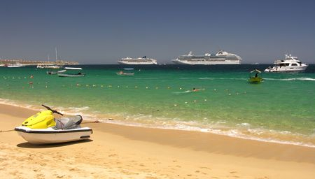 cabo: Wonderful beach near Cabo San Lucas  Mexico Stock Photo