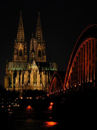 The most popular landmarks of CologneGermany. photo