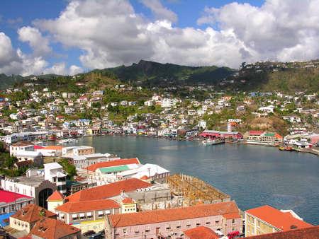 jetset: The port of St. George  Grenada Stock Photo