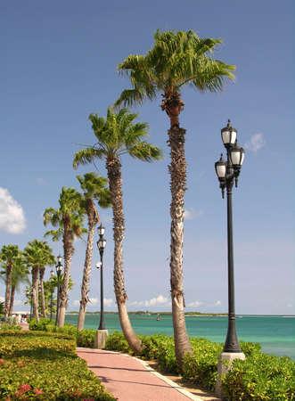The promenade of Oranjestad  Aruba