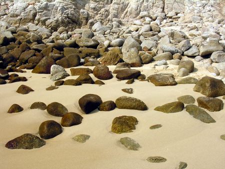 stony: Stony beach in Hualtulco  Mexico