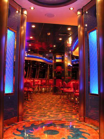 jetset: The nightclub on a cruiseship... Stock Photo