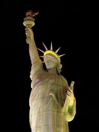 Illuminated statue of liberty in Las Vegas photo