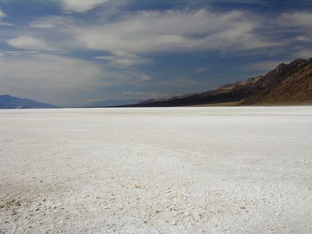 Badwater Basin in the Death Valley National Park – the deepest point in the U.S. 282 feet below sea level photo