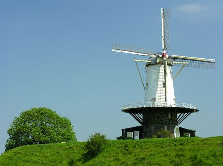 Historical dutch windmill photo