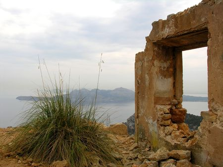 Ruin on the top of a mountain
