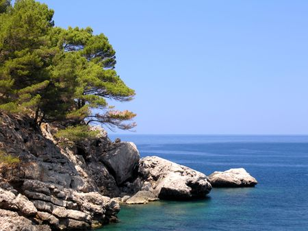 pine creek: Coastline of the spanish island Mallorca Stock Photo