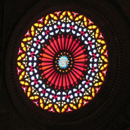 rotund: Colorful church window