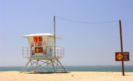 baywatch: Baywatch tower on a californian beach