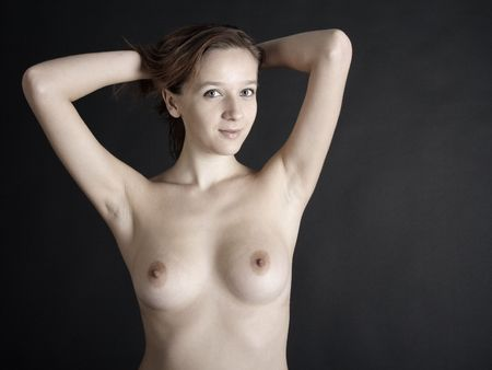 nice breast: Erotical young brunette woman