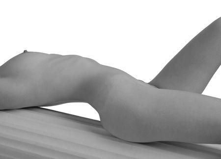 Lying torso of a beautiful young woman