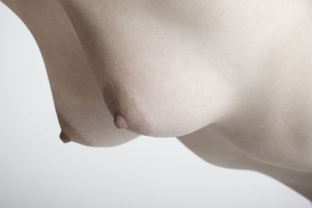 Breast of a beautiful young woman
