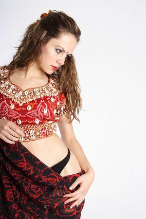 Beautiful brunette oriental woman photo