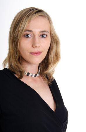 Portrait of a beautiful blond woman photo
