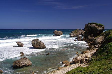 Beautiful caribbean coastline photo