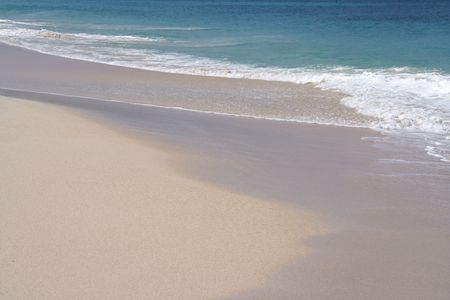 Beautiful caribbean beach with white sand Stock Photo