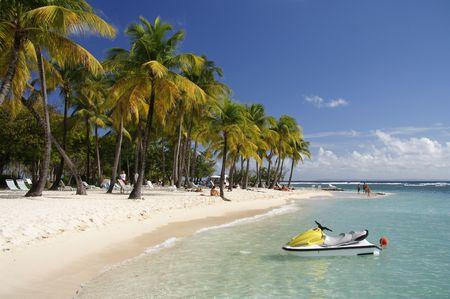 laguna: Beautiful caribbean lagoon with jetski