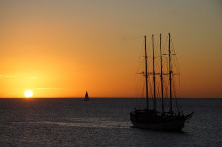 Mystic clipper at sunset photo