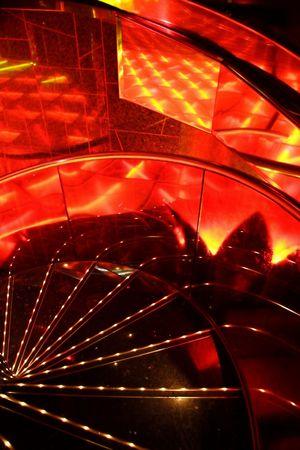 jetset: Red illuminated dance floor in a modern discotheque