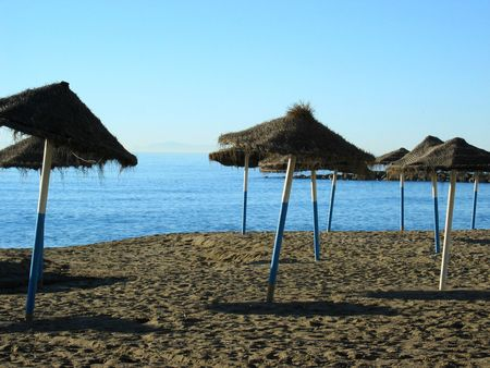 jetset: The beach of Marbella  Spain early in the morning