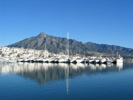 The port of Puerto Banus near Marbella  Spain Stock Photo
