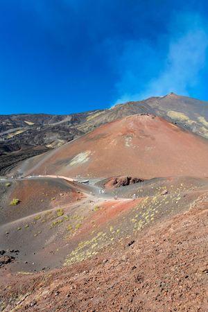 vulcano: Panorama view of an active vulcano  Stock Photo