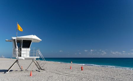 baywatch: A baywatch tower on a lonely beach