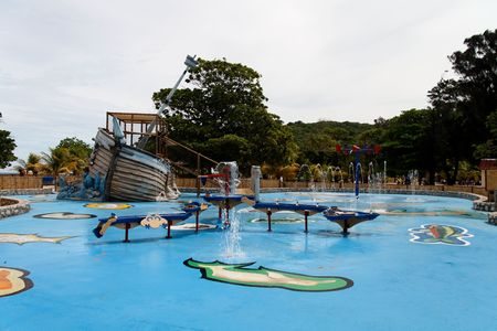 Childrens water playground