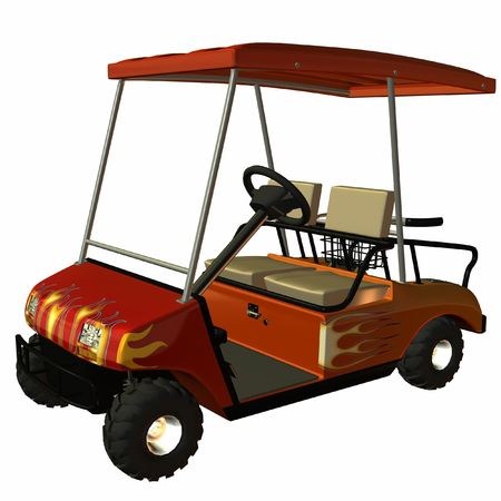 GolfCart Stock Photo