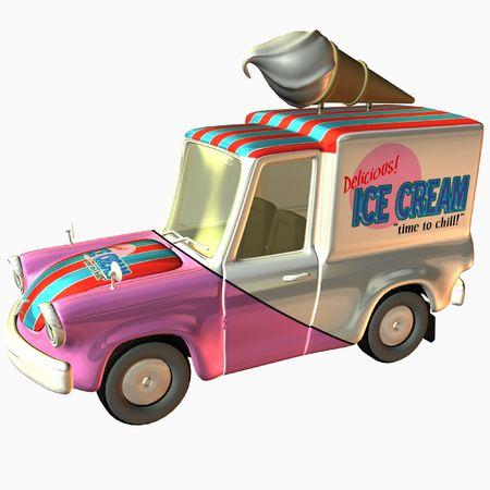 Toon Delivery Ice Cream photo