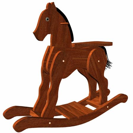 antique factory: Wooden Rocking Horse