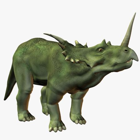 ancient creature: Styracosaurus Stock Photo