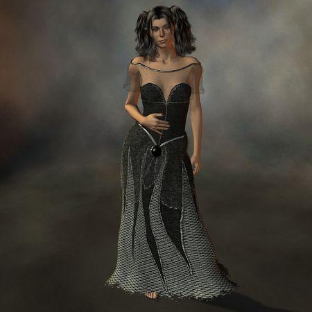 Lady in Black photo