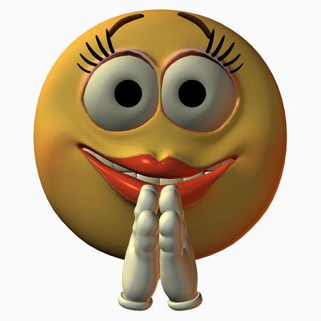 laugh emoticon: Smiley Girl