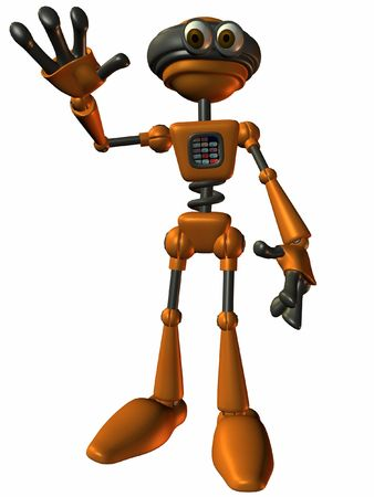 bot: Toon Bot Sparky-Wave Stock Photo