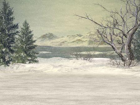 imprecise: Winter Wonderland Background Stock Photo