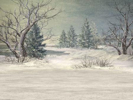 winter wonderland: Winter Wonderland sfondo Archivio Fotografico