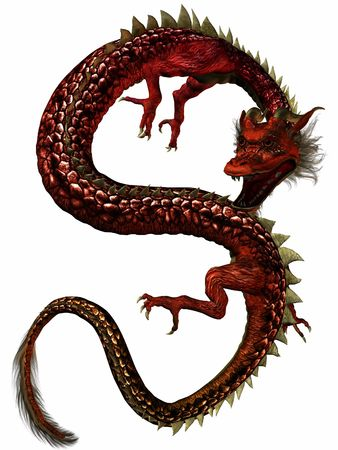 Eastern Dragon-Jewel Stock Photo