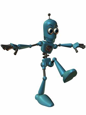 bot: Toon Bot Chip-Balance Stock Photo
