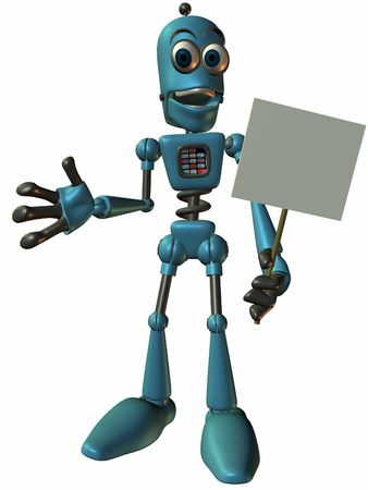 bot: Toon Bot Chip-Sign Stock Photo