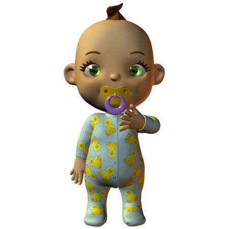 Toon Baby with Dummy Stock Photo