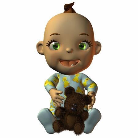 poser: Toon Baby with Teddy