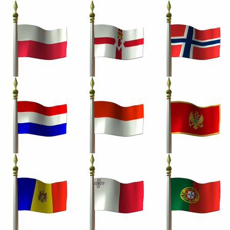 territories: Flags of nations, provinces, principalites and other territories in the continent of Europe