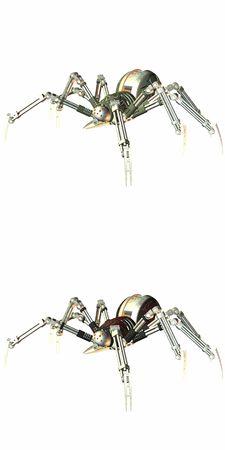electrocute: RoboSpider Stock Photo