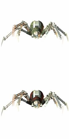 electrocute: RoboSpider Stock Photo