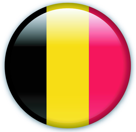 Button with flag from Belgium - Vector Format Vector