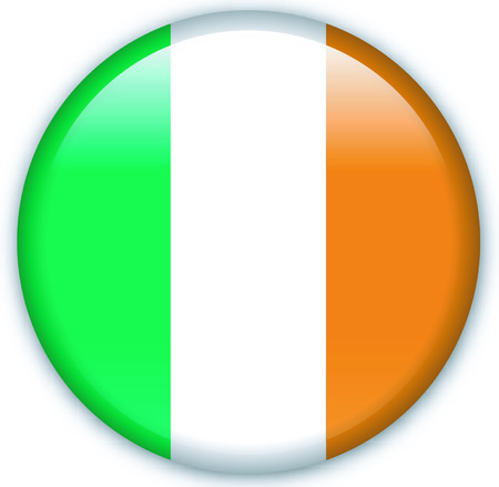 eastern europe: Button with flag from Ireland - Vector Format