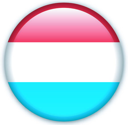 eastern europe: Button with flag from Luxembourg - Vector Format